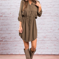 Close To Me Dress, Olive