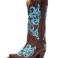 Women's Brown/Turquoise Dhalia Boot - R1193