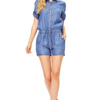 Locals Only Chambray Romper