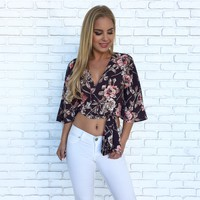 Into The Wild Floral Crop Top