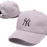 The New Lilac NY Embroidered Adjustable Baseball Cap Hats