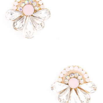 Diamonds for Breakfast Studs in Pink