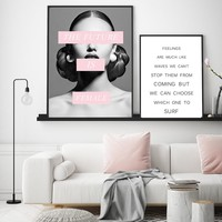 Quadro Fashion Posters and Prints Sexy Woman Print Canvas Paintings Picture Wall art Vogue Picture for Living Room Home Decor