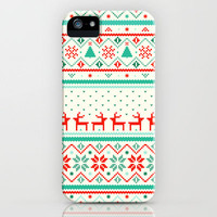 Festive Fair Isle iPhone Case by Tracie Andrews | Society6