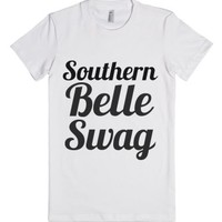 southern belle swag-Female White T-Shirt