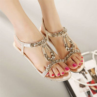New Comfortable Boho Flat Thong Sandals for Women