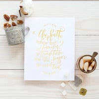 The South Print - Gold or Teal