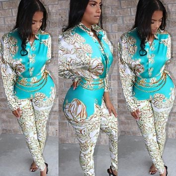 VERSACE Fashion Women Long Sleeve Jumpsuit