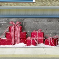 Christmas Garage Door Cover Banners 3d Holiday Outside Decorations Outdoor Decor for Garage Door G55