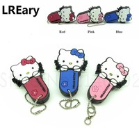 new style Hello Kitty Pen drive red/pink/blue cat usb flash drive memory stick storage device 4g/8g/16g/32g girl gift