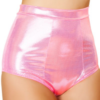 Hot Pink Banded High-Waist Shorts