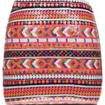 The Colorful Mini Sequin Skirt