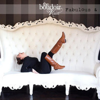 """Fabulous and Baroque — Absolom Roche Baroque 96"""" Curved Sofa - White Leatherette - Client Photo - Fabulous & Baroque"""