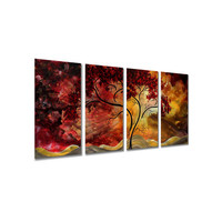 """All My Walls Passionate Light Ii by Megan Duncanson, Abstract Wall Art - 23.5"""" x 48"""""""