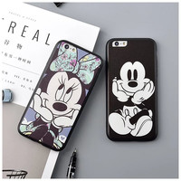 Minnie Mickey Dasiy for iPhone 6s case Fashion Cartoon Couple Lovers Funny Phone Case Cover Coque for iPhone 6 7 Plus 5 5s Se #