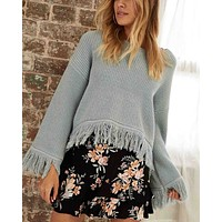 Final Sale - Somedays Lovin - Be Free Knit Jumper Sweater - Duckegg Blue