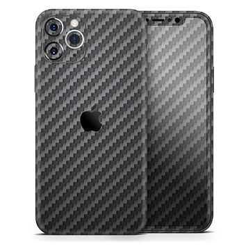 Carbon Fiber Texture - Skin-Kit for the Apple iPhone 12, 12 Pro Max, 12 Mini, 11 Pro or 11 Pro Max (All iPhones Available)