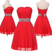 Red Homecoming Dress Bridesmaid Dresses