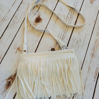 Out of the West Shoulder Bag in White