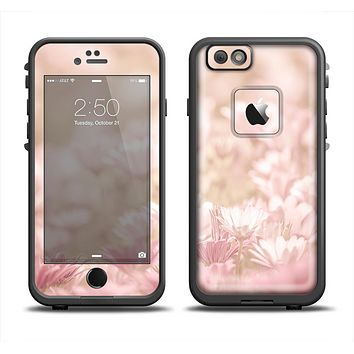 The Distant Pink Flowerland Apple iPhone 6 LifeProof Fre Case Skin Set