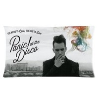 Custom Cotton & Polyester Soft Rectangle Zippered Pillow Case Cover 20X36 (Two Sides) - Music Star Band Series - Panic At The Disco Album This Is Gospel Poster Brendon Urie Smoke Color Smoke Pattern Personalized Pillowcase For Fans Design