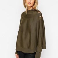 ASOS Cape With Button Detail