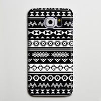 Black White Tribal Ethnic Aztec Galaxy S8 Plus Case Galaxy S7 Case Samsung Galaxy Note 5  Phone Case s6-024