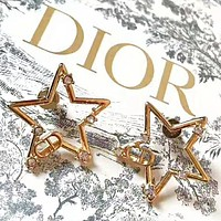 DIOR Fashion New Star Diamond Personality Earring Accessories Women