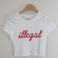 Illegal Graphic Crop Top