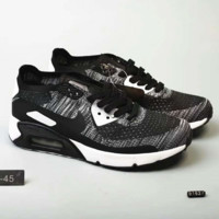 Nike Nikelab Air Max 90 Flyknit Air Cushion Running Sneakers Sport Casual Shoes Sneakers G-MLDWX