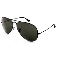 AUTHENTIC RAY BAN AVIATORS RB3025 BLACK FRAME BLACK LENSES 58MM