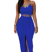 Two Piece  Set Cropped Two Piece Skirt