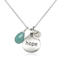 "Satya Jewelry ""Hope for Hati"" Hope, Love, and Healing Charm Necklace for Hati"