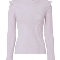 Derek Lam 10 Crosby Ruffled Fitted Sweater - INTERMIX®