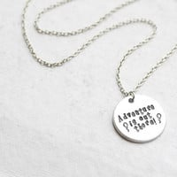 """Disney's UP """"Adventure is out there"""" necklace"""