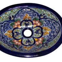 Talavera Mexican Hand Painted  Sink