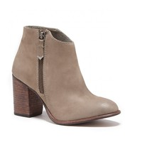 Riley Stacked Heel Leather Bootie