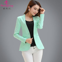 Spring Autumn Long sleeve Shrug Women Blazers  Candy-Color ladies blazers jackets Suit Jackets women's blazers and suit jackets