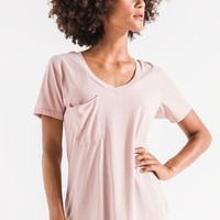 The Pocket Tee- Deauville Mauve