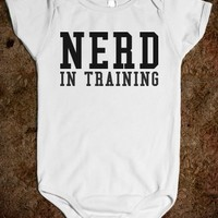 NERD IN TRAINING BABY ONE-PIECE