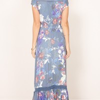 Baylee Bali dress in navy floral Produced By SHOWPO