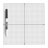 Coordinate Grid Small White Board