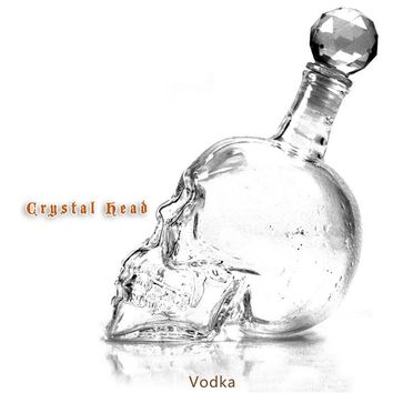 Crystal Head Glass Skull Bottle Wine Skull Decanter magic decanter vin cristal de Red wine vinho Pourer Glass Decanter handmade