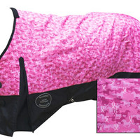 Saddles Tack Horse Supplies - ChickSaddlery.com Showman 1200 Denier Waterproof Breast Cancer Ribbon Print Turnout Blanket <>