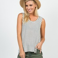 Knitted Striped Tank - Medium