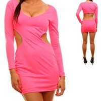 Neon Pink Cut Out Dress