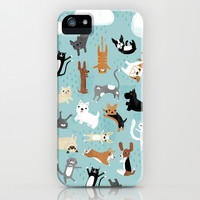 Raining Cats & Dogs iPhone & iPod Case by Anne Was Here