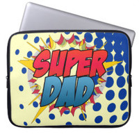 Comic Book Inspired Super Dad Computer Sleeve