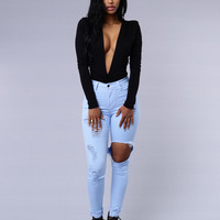 On the DL Bodysuit - Black
