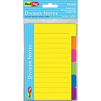 Redi-Tag® Divider Notes with Tabs, Assorted Colors, 60/Pk   Staples